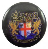 Saxon - 'Lionheart' Button Badge